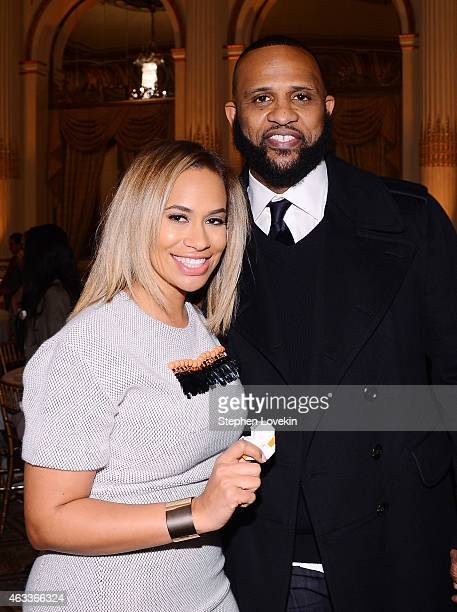 Honoree Amber Sabathia and professional baseball player CC Sabathia attend Russell Simmons' Rush Philanthropic Arts Foundation's annual Rush HeARTS...