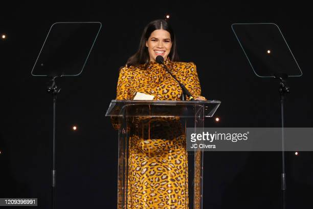 Honoree America Ferrera speaks onstage during the 23rd Annual NHMC Impact Awards Gala at the Beverly Wilshire Four Seasons Hotel on February 28, 2020...