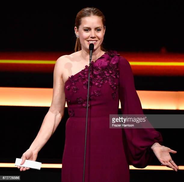 Honoree Amy Adams accepts the American Cinematheque Award onstage during the 31st Annual American Cinematheque Awards Gala at The Beverly Hilton...
