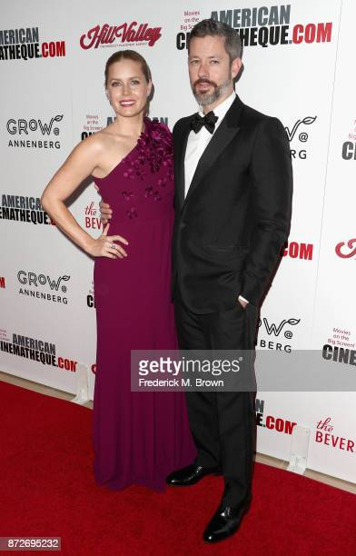 Honoree Amy Adams and Darren Le Gallo attend the 31st Annual American Cinematheque Awards Gala at The Beverly Hilton Hotel on November 10 2017 in...