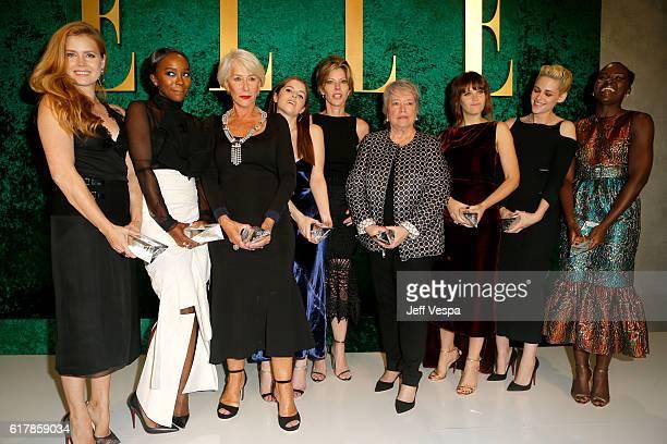 Honoree Amy Adams honoree Aja Naomi King honoree Helen Mirren honoree Anna Kendrick ELLE EditorinChief Robbie Myers honoree Kathy Bates honoree...