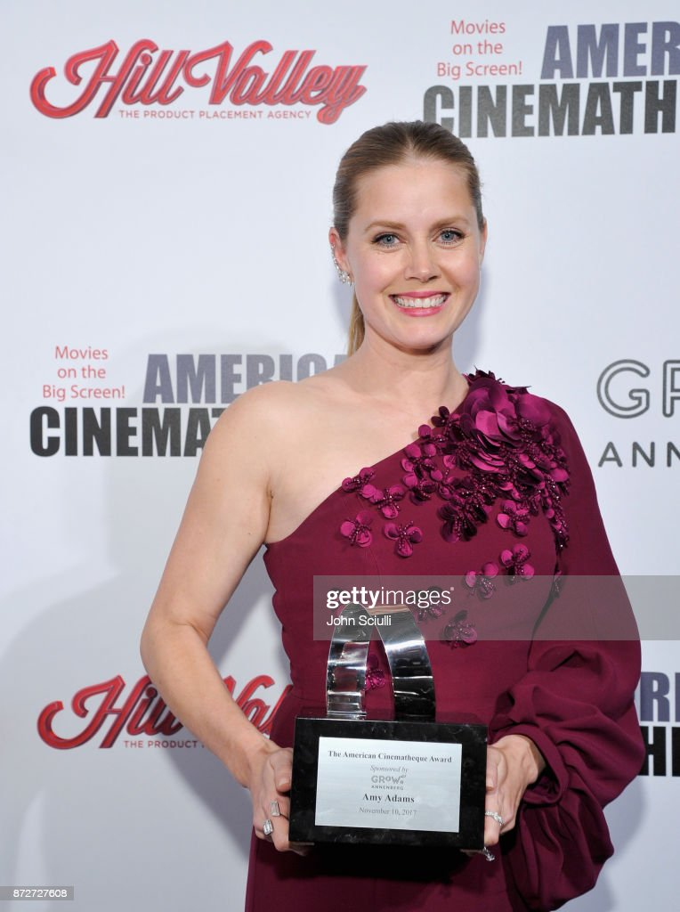Honoree Amy Adams, recipient of the American Cinematheque Award, attends the 31st American Cinematheque Award Presentation Honoring Amy Adams Presented by GRoW @ Annenberg. Presentation of The 3rd Annual Sid Grauman Award Sponsored by Hill Valley, presented to Richard Gelfond and Greg Foster on behalf of IMAX at The Beverly Hilton Hotel on November 10, 2017 in Beverly Hills, California.