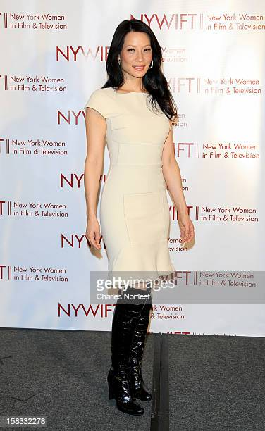 Honoree and actress Lucy Liu attends the 2012 New York Women In Film And Television Muse Awards at the Hilton New York on December 13, 2012 in New...