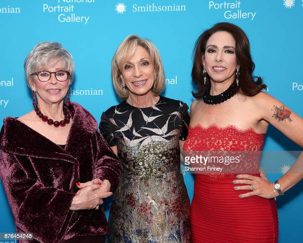 Honoree and actress Rita Moreno NBC and MSNBC journalist Andrea Mitchell and Fernanda Luisa Gordon at the National Portrait Gallery 2017 American...