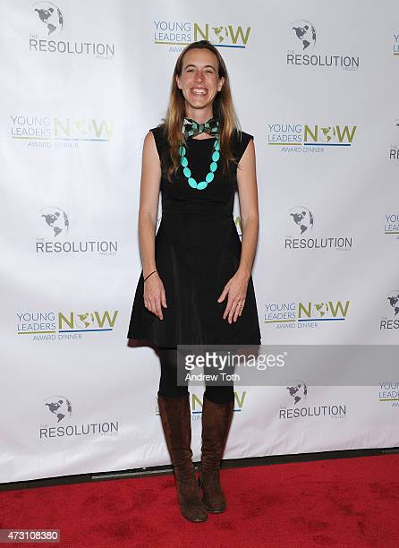 Honoree and CEO/CoFounder of Peer Health Exchange Louise Langheier attends The Resolution Project Young Leaders Now award dinner 2015 on May 12 2015...