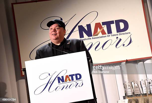 Honoree and CEO/President of Webster PR Kirt Webster speaks onstage during the NATD Honors Gala on November 9 2015 in Nashville Tennessee