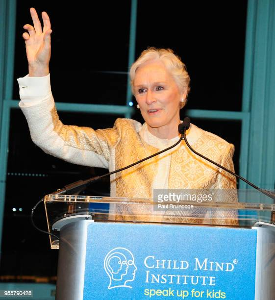 Honoree and Cofounder of Bring Change 2 Mind Glenn Close accepts the Activist Award during the 2018 Change Maker Awards at Carnegie Hall on May 7...