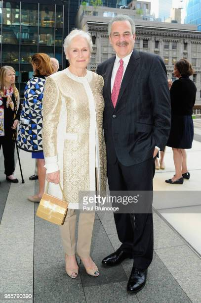 Honoree and Cofounder of Bring Change 2 Mind Glenn Close and President of The Child Mind Institute Dr Harold S Koplewicz attend the 2018 Change Maker...