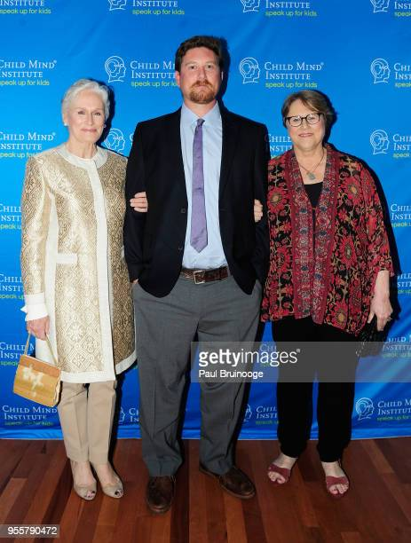 Honoree and Cofounder of Bring Change 2 Mind Glenn Close Calen Pick and Jessie Close attend the 2018 Change Maker Awards at Carnegie Hall on May 7...