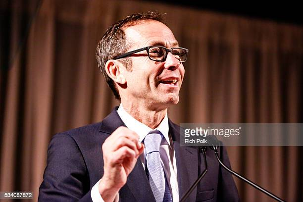 Honoree and Creative Artists Agency President Richard Lovett speaks on stage at the communities in schools of Los Angeles annual gala on May 24 2016...