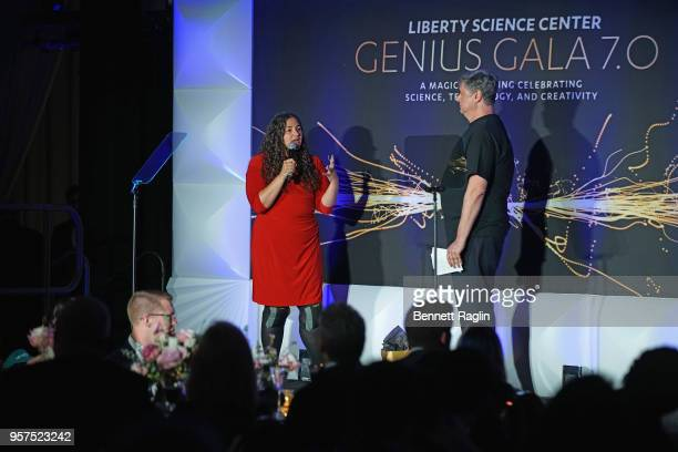 Honoree and Director of the Comparative Cognition Laboratory and Canine Cognition Center at Yale University Laurie Santos and Liberty Science Center...