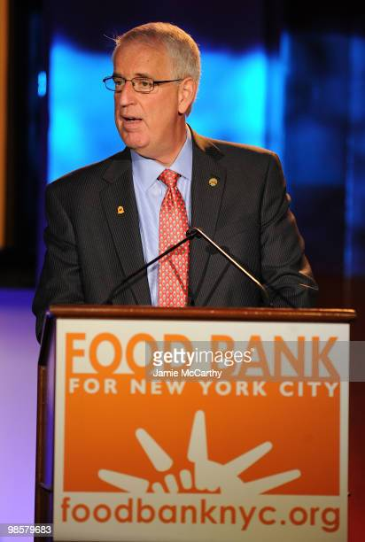 Honoree and Executive VP of Wakfern/ChopRite Joseph Sherridan speaks at the Food Bank for New York City's 8th Annual CanDo Awards dinner at Abigail...
