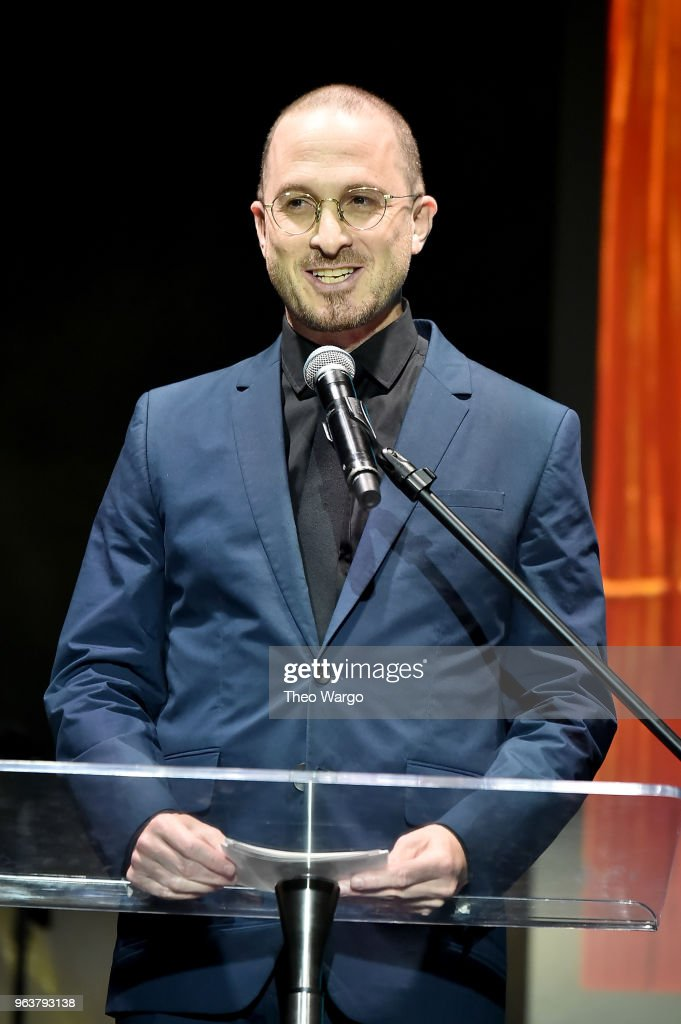 Honoree and filmmaker Darren Aronofsky speaks onstage during the BAM Gala 2018 honoring Darren Aronofsky, Jeremy Irons, and Nora Ann Wallace at Brooklyn Cruise Terminal on May 30, 2018 in New York City.