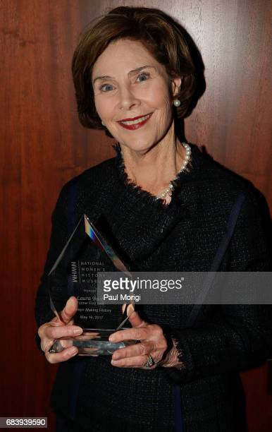 Honoree and Former First Lady of the United States Laura Bush receives the National Women's History Museum's Annual Women Making History Award at the...