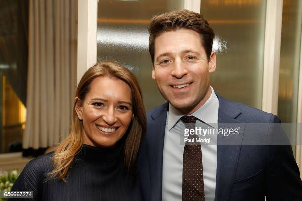 Honoree and NBC News Correspondent Katy Tur and CBS News Correspondent Tony Dokoupil attend ELLE and Bottega Veneta Women in Washington dinner hosted...