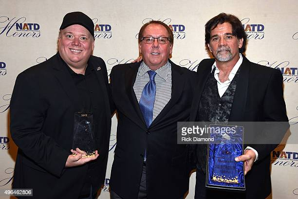 Honoree and President/CEO at Webster PR Kirt Webster President/CEO at APA Jim Gosnell and honoree and NATD President Steve Tolman attend the NATD...