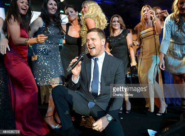 Honoree and singer Michael Buble performs onstage during Muhammad Ali's Celebrity Fight Night XX held at the JW Marriott Desert Ridge Resort Spa on...