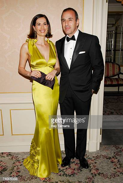 Honoree and TV personality Matt Lauer and his wife Annette Lauer attend the Museum Of The Moving Image Annual Black Tie Salute at the St Regis April...