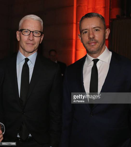 Honoree Anderson Cooper and Benjamin Maisani attend The 2018 Windward School Benefit at Cipriani 42nd Street on March 10 2018 in New York City The...