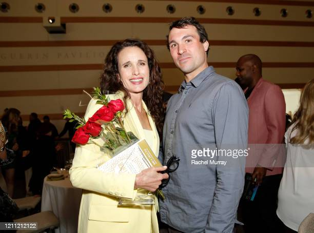 Honoree Andie MacDowell and son Justin Qualley attend the National Women's History Museum's 8th Annual Women Making History Awardsat Skirball...