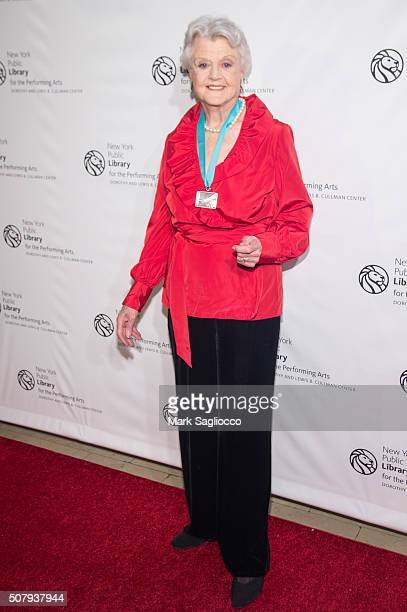Honoree Angela Lansbury attends the The New York Public Library For The Performing Arts' 50th Anniversary Gala at The New York Public Library Stephen...