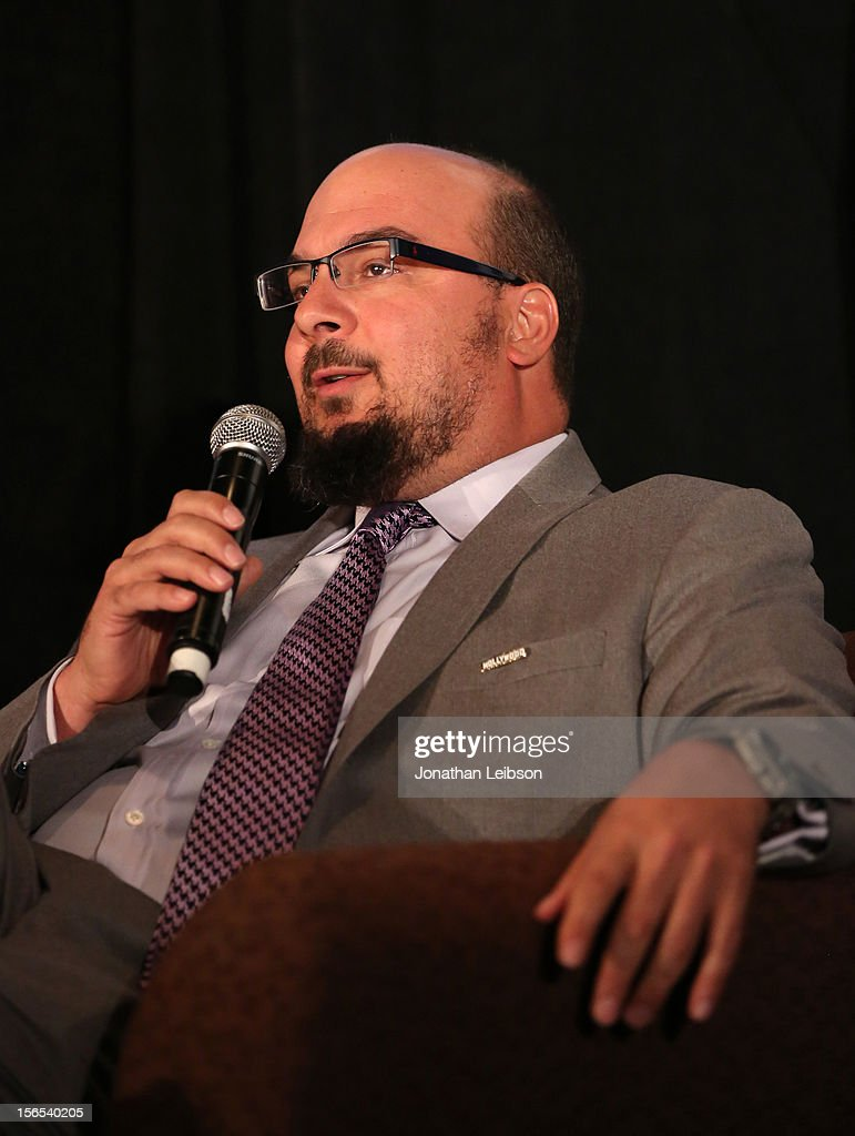 Honoree Anthony E. Zuiker, Creator/Executive Producer of CSI speaks onstage at Variety's Hollywood Chamber Entertainment Conference 2012 at Loews Hollywood Hotel on November 16, 2012 in Hollywood, California.