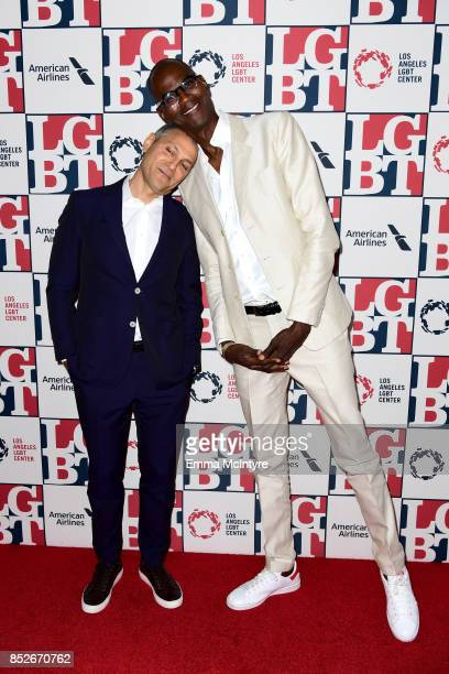 Honoree Ariel Emanuel and Mark Bradford attend Los Angeles LGBT Center's 48th Anniversary Gala Vanguard Awards at The Beverly Hilton Hotel on...