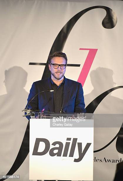 Honoree Ariel Foxman accepts the award for Fashion Media Brand of the Year onstage during The DAILY FRONT ROW Fashion Los Angeles Awards Show at...