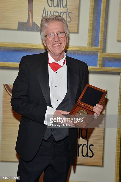 Honoree Arthur Sellers recipient of the Morgan Cox Award poses in the Press Room during the 2016 Writers Guild Awards at the Hyatt Regency Century...