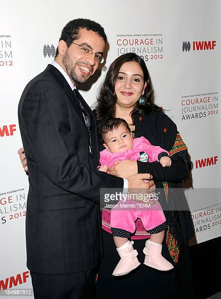 Honoree Asmaa alGhoul attends the 2012 Courage in Journalism Awards hosted by the International Women's Media Foundation held at the Beverly Hills...