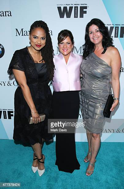 Honoree Ava DuVernay, President of Women In Film, Los Angeles, Cathy Schulman, wearing Max Mara, and Vice President of Marketing, BMW of North...
