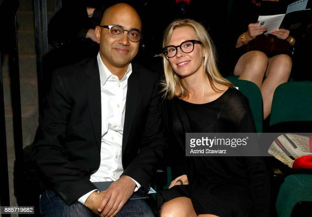 Honoree Ayad Akhtar and Annika Boras attend the 2017 Steinberg Playwright Awards honoring Ayad Akhtar and Lucas Hnath at Lincoln Center Theater on...