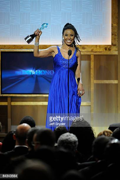 Honoree B Smith accepts her award at the 2nd annual BET Honors at the Warner Theatre on January 17 2009 in Washington DC