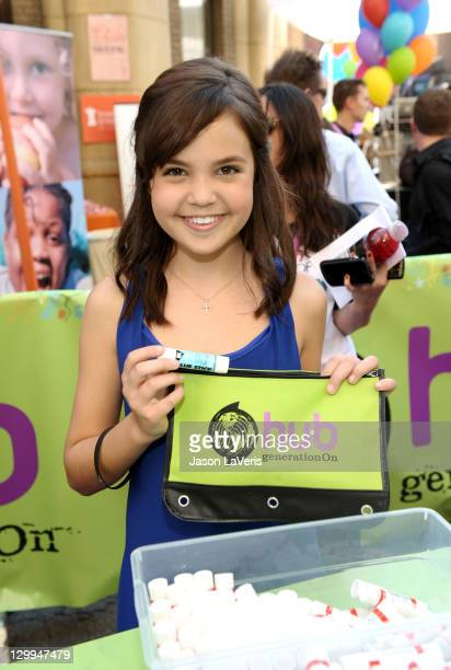 Honoree Bailee Madison at the Hub booth during Variety's 5th annual Power Of Youth event presented by The Hub at Paramount Studios on October 22 2011...