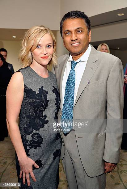 Honoree Balaji Govindaswami MD and actress Reese Witherspoon attend the March of Dimes Celebration of Babies Luncheon at Beverly Hills Hotel on...