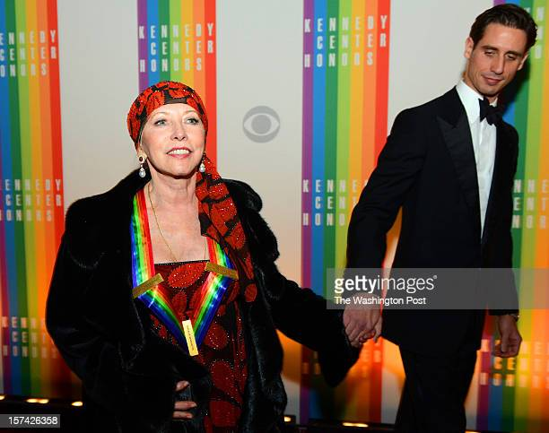 Honoree ballerina Natalia Makarova with son Andrei Karkar walk the red carpet at the 35th Annual Kennedy Center Honors Gala in Washington DC on...