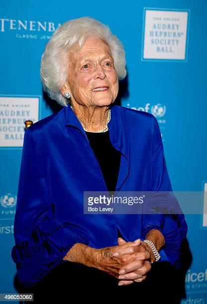 Honoree Barbara Bush attends the UNICEF Audrey Hepburn Society Ball honoring former first lady Barbara Bush at the Hilton Americas Hotel on November...