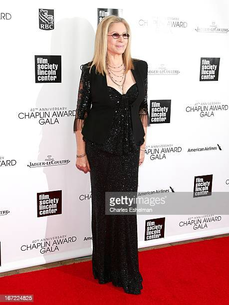 Honoree Barbra Streisand arrives at the 40th Anniversary Chaplin Award Gala at Avery Fisher Hall at Lincoln Center for the Performing Arts on April...