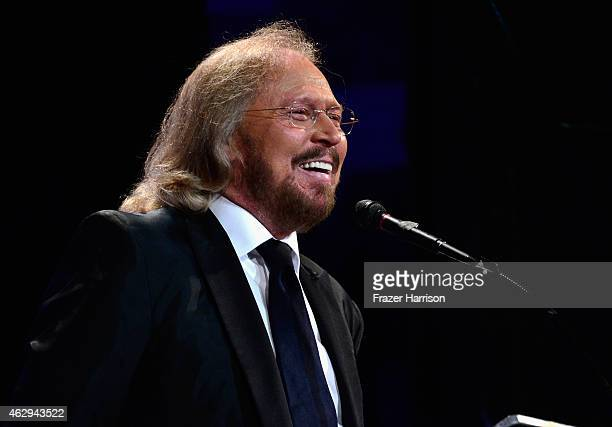 Honoree Barry Gibb speaks onstage during The 57th Annual GRAMMY Awards Special Merit Awards Ceremony on February 7 2015 in Los Angeles California