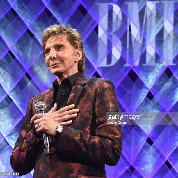 Honoree Barry Manilow speaks onstage at the Broadcast Music Inc honors Barry Manilow at the 65th Annual BMI Pop Awards on May 9 2017 in Los Angeles...