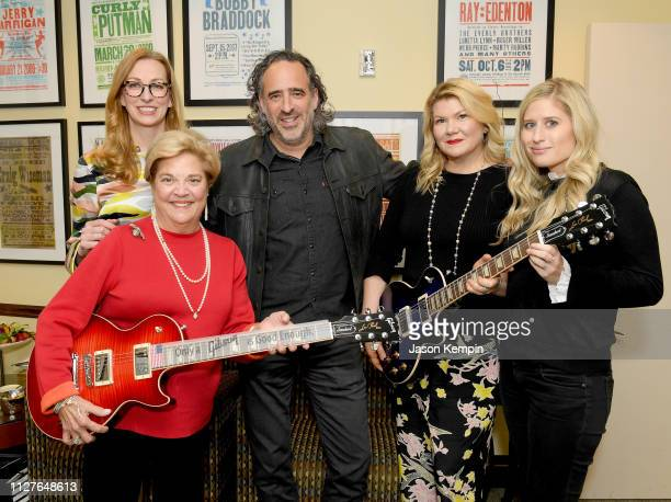 Honoree Bebe Evans CMHOF's Lisa Purcell James Curleigh of Gibson honoree Marcie Allen and Heather Freeland of Gibson attend the Twelfth Annual Louise...