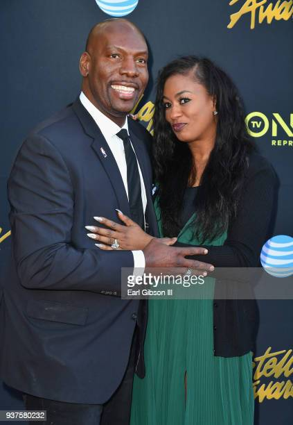 Honoree Ben Tankard and guest attend the 33rd annual Stellar Gospel Music Awards at the Orleans Arena on March 24 2018 in Las Vegas Nevada