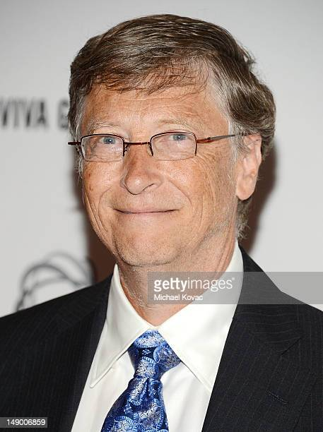 Honoree Bill Gates attends Together To End AIDS: An Evening To Benefit amfAR and GBCHealth at the John F. Kennedy Center for the Performing Arts on...