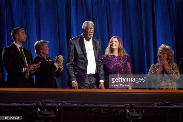 Honoree Bill Russell accepts the Arthur Ashe Courage Award onstage during The 2019 ESPYs at Microsoft Theater on July 10 2019 in Los Angeles...