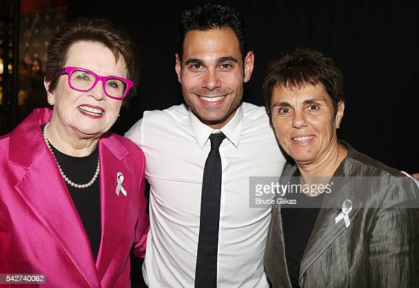 Honoree Billie Jean King Eric Podwall and Ilana Kloss attend The Logo TV 2016 Trailblazer Honors at Cathedral of St John the Divine on June 23 2016...