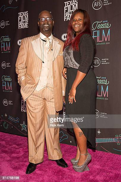 Honoree Bishop Fred Jones and Alexis Jones attend the Austin Film Society's 16th Annual Texas Film Awards at Austin Studios on March 10 2016 in...