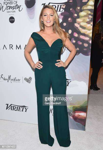 Honoree Blake Lively attends Variety's Power of Women New York luncheon at Cipriani Midtown on April 21, 2017 in New York City.