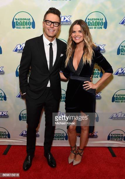 Honoree Bobby Bones and radio personality Amy Brown attend the National Radio Hall of Fame Class Of 2017 Induction Ceremony Celebration at the Museum...