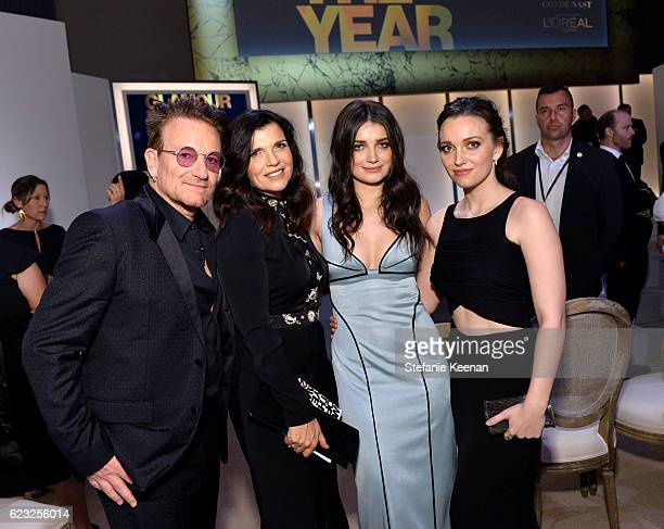 Honoree Bono Ali Hewson Eve Hewson and Jordan Hewson attend Glamour Women Of The Year 2016 at NeueHouse Hollywood on November 14 2016 in Los Angeles...