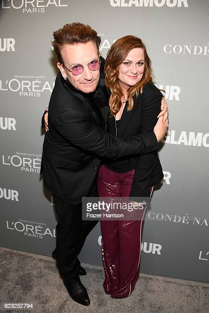 Honoree Bono and actress Amy Poehler attend Glamour Women Of The Year 2016 at NeueHouse Hollywood on November 14 2016 in Los Angeles California